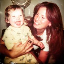 Me and my Mama. Only she and my brother could really get me laughing.
